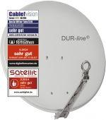 DUR-line Select 75/80 Hellgrau - Alu Sat-Antenne hellgrau