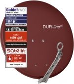 DUR-line Select 75/80 Rot - Alu Sat-Antenne rot