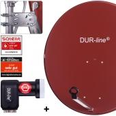 DUR-line MDA 90 R + +Ultra Quad LNB - 4 TN LNB Set rot