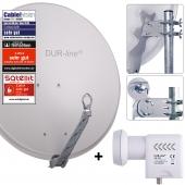 DUR-line Select 75/80 G + UK 124 LNB - Einkabel Set hellgrau