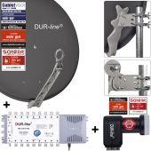 DUR-line Select 75/80 A + MS5/16 + +Ultra Quattro LNB - 16 Teilnehmer Set anthrazit