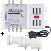 DUR-line UKS 246 + 2 LNB - Einkabel Set 2 Satelliten