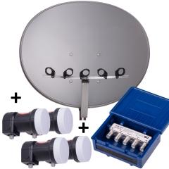 E-85 A + MS4/1 + 4x Single LNB - Multifocus Set