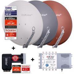 DUR-line Select 75/80 + MS5/8 + LNB - 8 TN Set