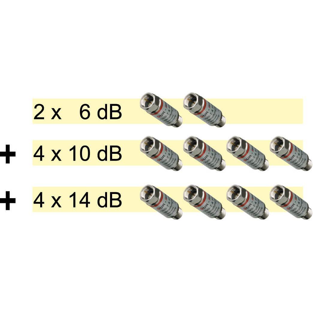 DUR-line DG-S - SAT/BK Dämpfungsglied-Set