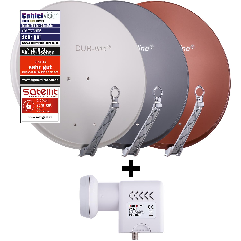 +Ultra Quattro LNB DUR-line Select 75//80 R 16 Teilnehmer Set MS5//16