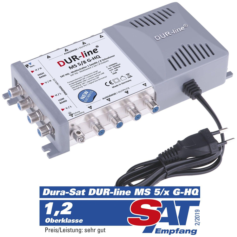 DUR-line MS 5/8 G-HQ - Multischalter 8 Teilnehmer