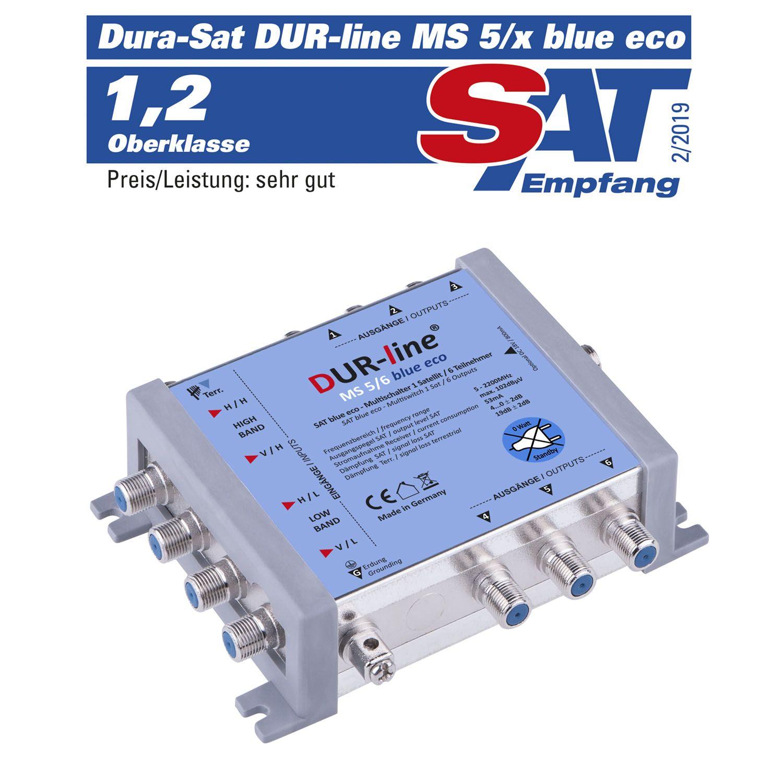 DUR-line MS 5/6 Blue ECO - Multischalter 1 SAT / 6 Teilnehmer