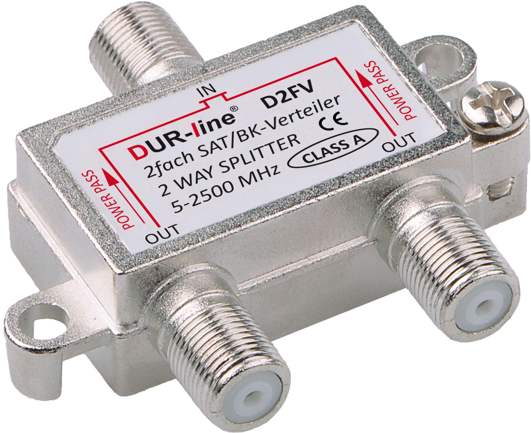 DUR-line D2FV - BK/SAT-Verteiler 2fach